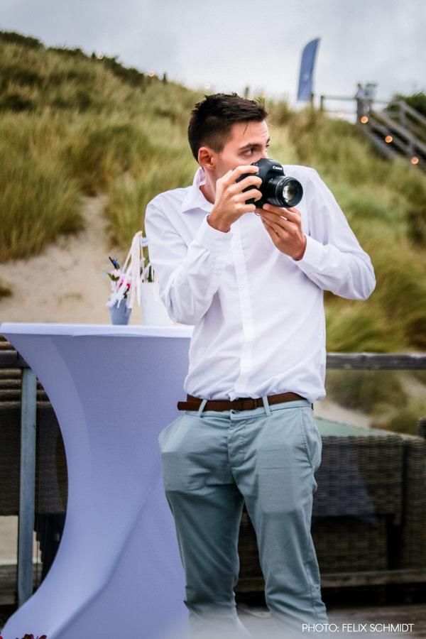 Making Of Bild von Hochzeitsfotograf Steven Herrschaft auf einer Hochzeit fotografiert von Felix Schmidt